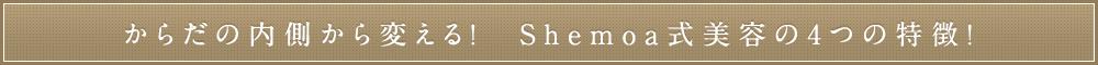 カラダの内側から変える!Shemoa式美容鍼の4つの特徴!